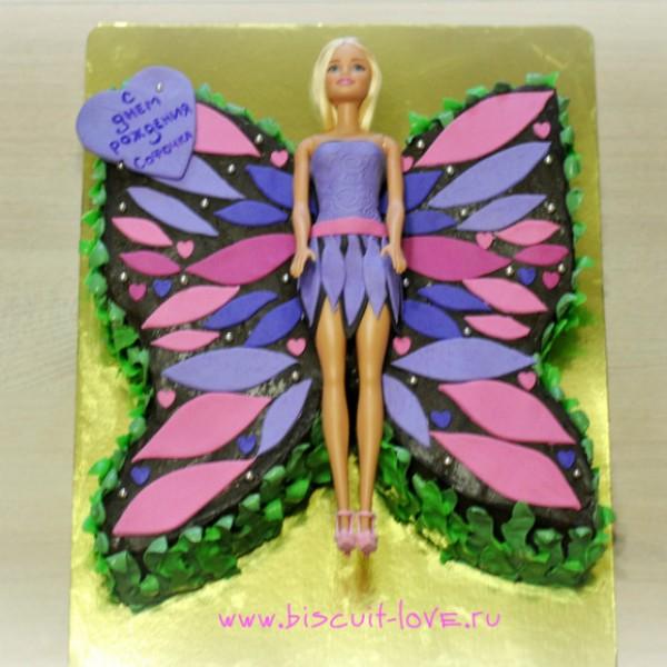 торт в форме бабочки фото