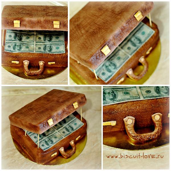 Торт чемодан денег пошагово